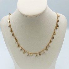 Personality stylish lady necklace Bohemian style star crystal birthday gift