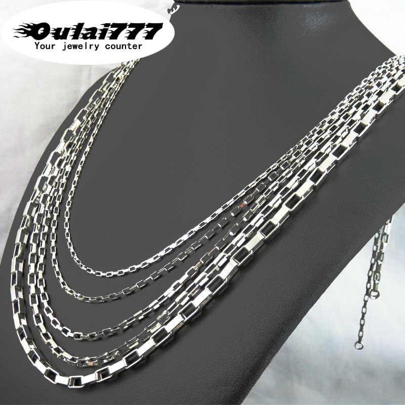 Oulai777 ze stali nierdzewnej biżuteria męska złoty długi łańcuch dekoracji naszyjnik kobiety naszyjniki mężczyzn best friends choker medalion