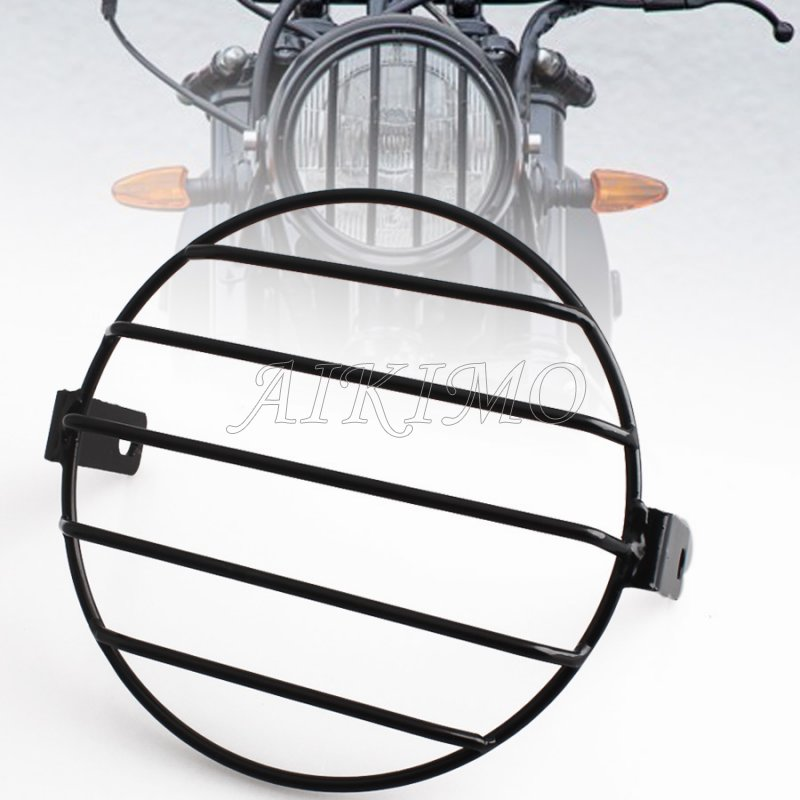 Metal Grill Motorcycle Side Mount Headlight Protector Cover 6.69