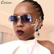 2020 New Irregular Rimless Sunglasses Women Brand Designer A