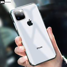 все цены на Plating Hard PC Phone Case For iPhone 11 Pro XS MAX XR X Ultra-thin Clear Shockproof Protective Cover For iPhone 7 8 6 6s Plus Shell