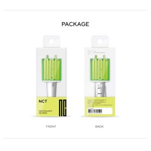 Image 5 - Kpop NCT Mini light stick KeyChain Lamp pendant hanging fluorescent stick Green hammer key chain official peripheral k pop NCT