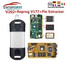 עבור רנו יכול קליפ מלא שבב V202 עם ברוש AN2135SC 2136SC זהב PCB יכול קליפ רכב אבחון כלי עבור 1998 2019 Reprog V175