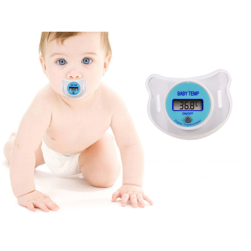 Baby Nipple Thermometer Medical Silicone Pacifier LCD Digital Mouth Children's Thermometer Health Safety Care For Baby