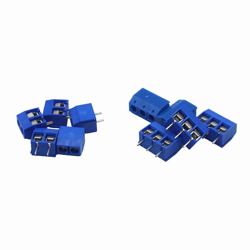 20 pièces KF301-5.0-2P pas de KF301-3P 5.0mm KF301-2P broche droite PCB 2 broches 3 broches vis bornier connecteur