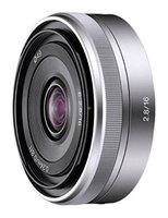 Sony sel16f28 16mm f/2.8 lente grande angular para câmeras da série nex, usada