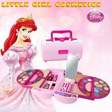 Дисней принцессы дети ролевые игры игрушки макияж набор Безопасный и не токсичный для девочек туалетный косметический Подарочная коробка