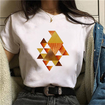 Beautiful geometry printed t shirt women 90s Graphic T-shirt Harajuku Tops Tee Cute Short Sleeve animal tshirt Female Tshirts 10