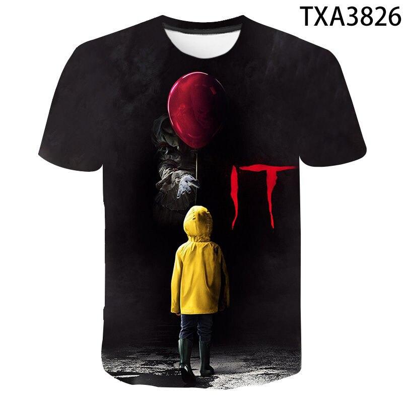 IT: Chapter Two, футболка с 3D принтом, мужская, женская, детская, летняя, клоун, триллер, теракт, фильм, повседневная, Джокер, футболка классная, топы, ...