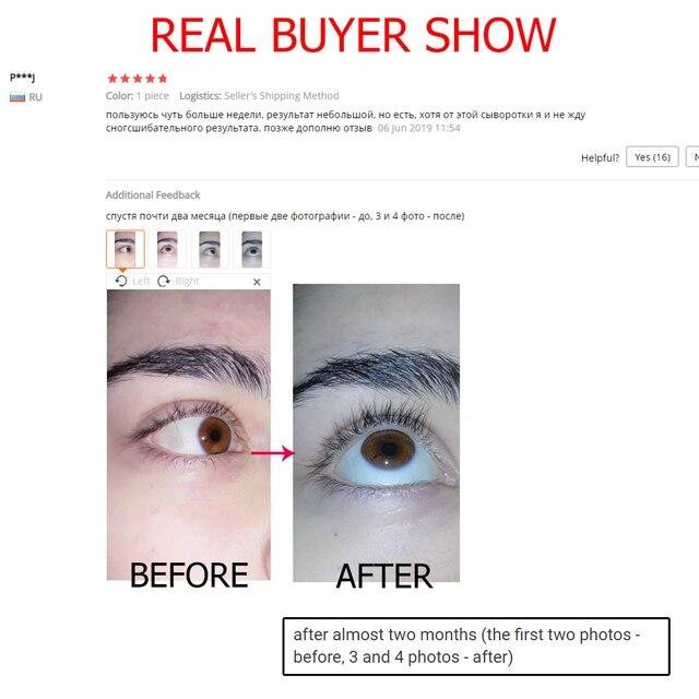 O.TWO.O Eyelash Growth Treatments Moisturizing Eyelash Nourishing Essence For Eyelashes Enhancer Lengthening Thicker 3ml 4