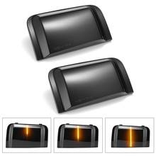 цена на 2pcs Truck Box Car Rearview Mirror Streamer Light for Citroen Jumper Fiat Ducato for Peugeot Boxer Smoked Shell