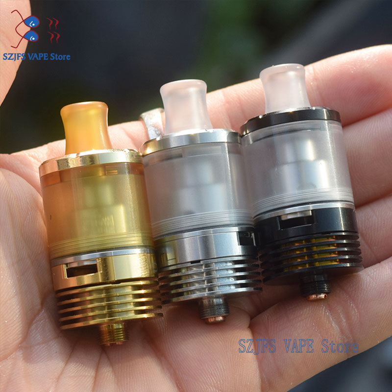 MTL Dvarw 22 RTA 316 Stainless Steel Atomizer Diameter Mm 2.0ml / 5ml Rebuildable Fit 510 Vape Vs Zeus X Yftk Kylin M Gtr Rta