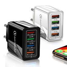 Carregador rápido usb portátil 3.0 48w qc 3.0 4.0, carregador rápido de celular para iphone, samsung, xiaomi adaptador huawei,