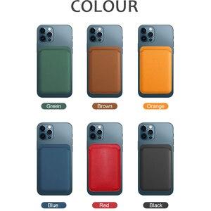 Image 5 - Funda de silicona líquida magnética 2 en 1 + cartera, tarjetero para IPhone 12 Pro Max, Mini imán seguro, tarjetero, accesorios