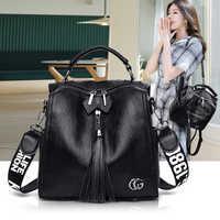 Women bag genuine leather 2020 brand fashion shoulder bag women Messenger black big crossbody