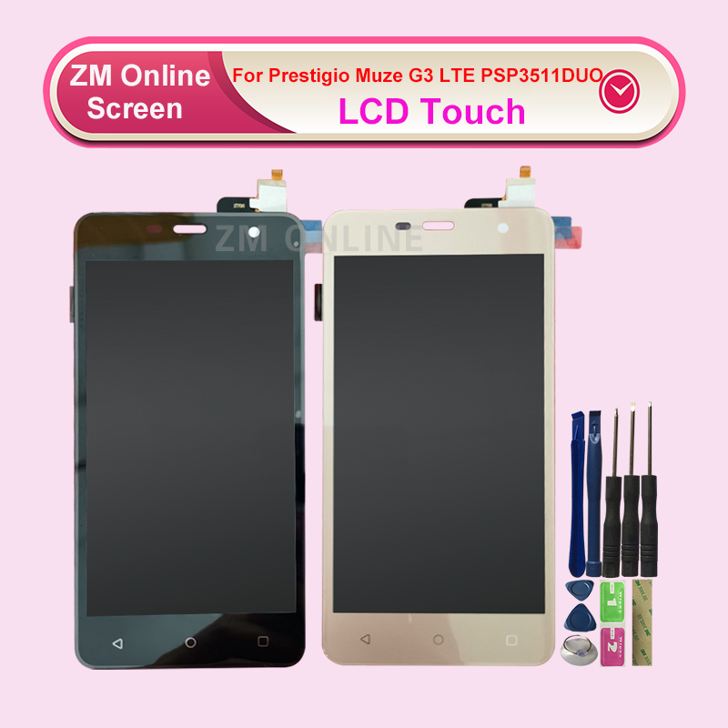 For <font><b>Prestigio</b></font> Muze G3 LTE <font><b>PSP3511DUO</b></font> LCD Display With Touch Screen Digitizer Senor Replacement With Tools image