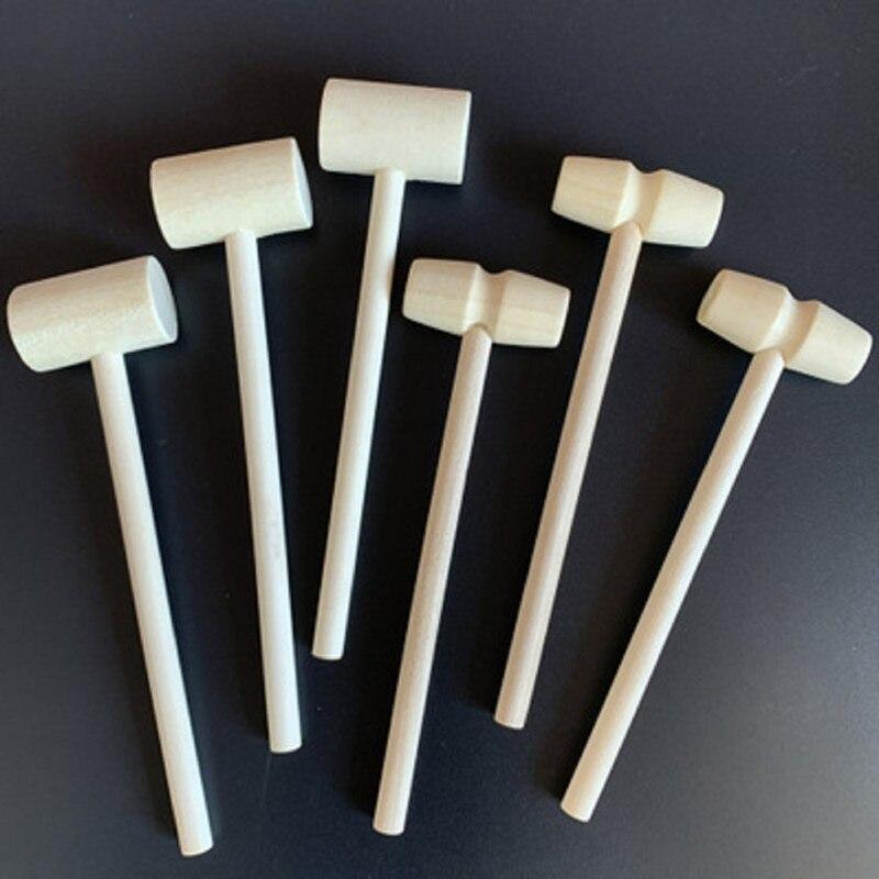 5 шт. мини деревянные шарики молотка игрушка Деревянный Мини молоток стук детей плоская игрушка молоток деревянный DIY аксессуары