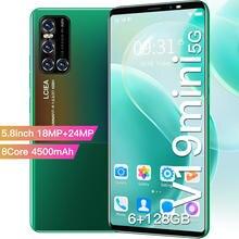 Teléfono Inteligente V19MINI, 2021 pulgadas, 64GB, 5,8 GB, Android 10, identificación facial con huella dactilar, SIM Dual, Micro SD, 5G, barato, novedad de 128