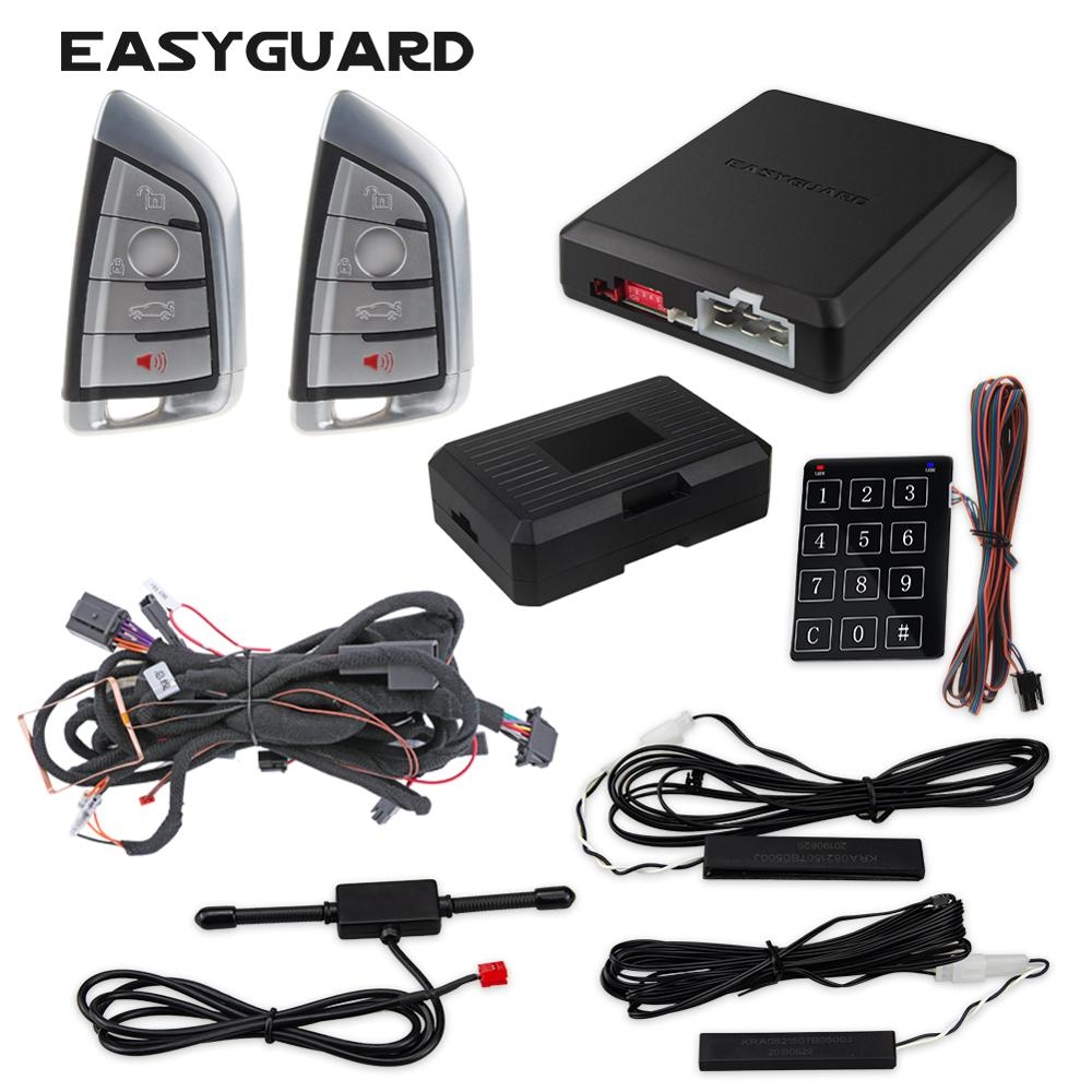 BMW F20 F21 F30 F31 F34 F35 4 series PKE keyless entry kit plug and play car alarm system suitable for EASYGUARD CAN BUS style