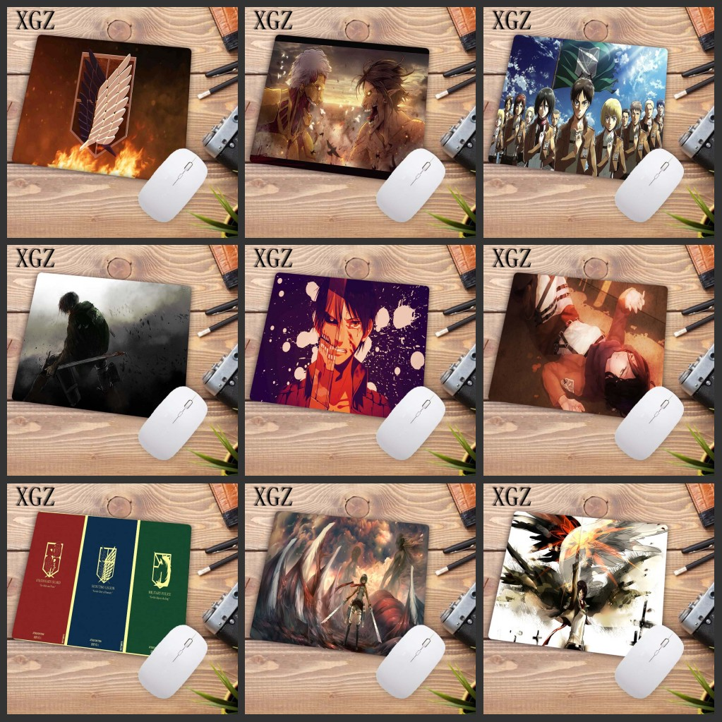 XGZ Big Promotion Design Attack On Titan Japan Anime Durable Rubber Gaming Speed Mouse Pad Gamer Mousepad Size For 180x220x2mm