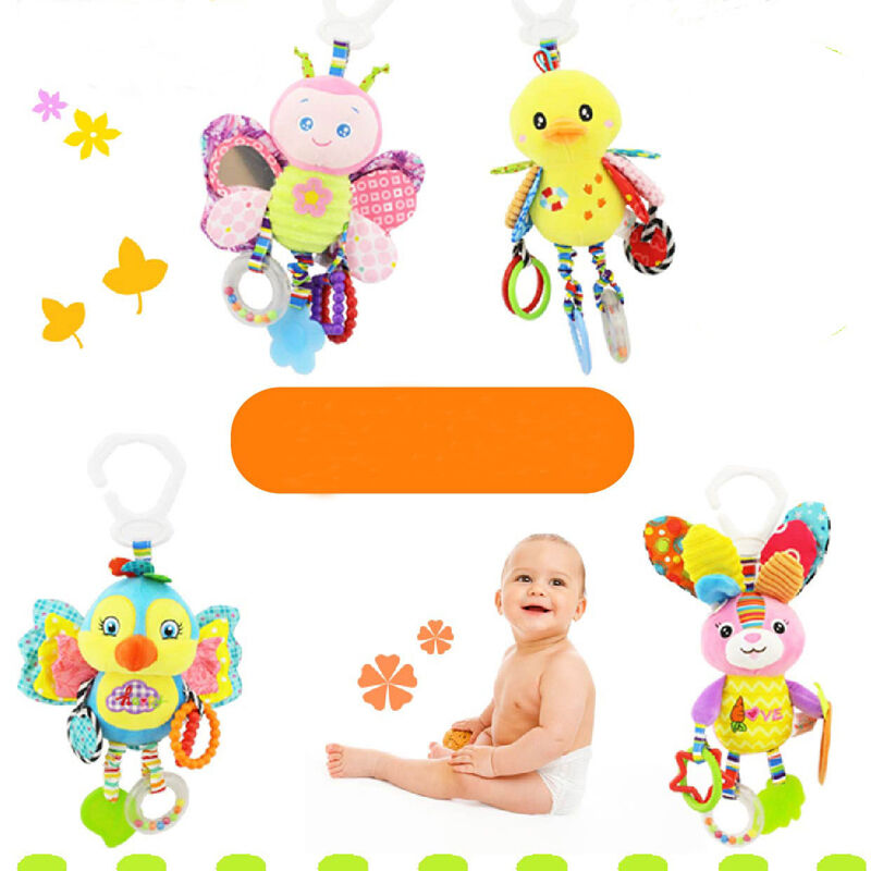 Pudcoco Cartoon 0-12M Baby Toys Bed Stroller Baby Mobile Hanging Rattles Newborn Plush Toy Infant Toys For Baby