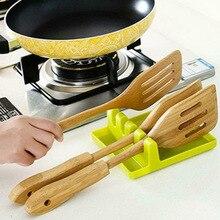 Держатель для кухонной утвари, силиконовая стойка для ложек и лопаток, полка, портативная многофункциональная стойка, магазин QJS
