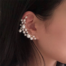 2019 fashion vintage Weave pearl ear climber cuff 925 silver pin for women