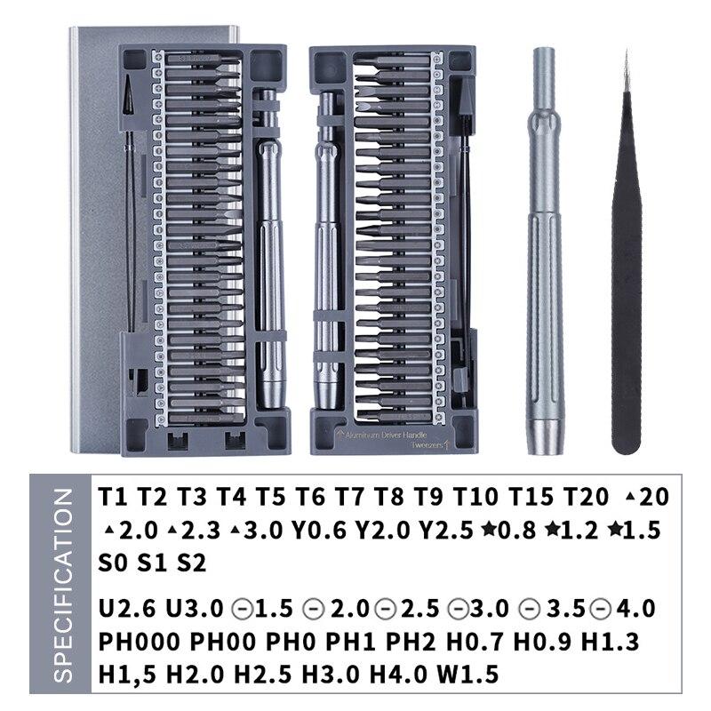 Image 2 - KINDLOV Набор прецизионных отверток магнитная шлицевая отвертка рhillips биты 50 в 1 Набор инструментов для ремонта мобильного телефона ноутбукаОтвертка    АлиЭкспресс