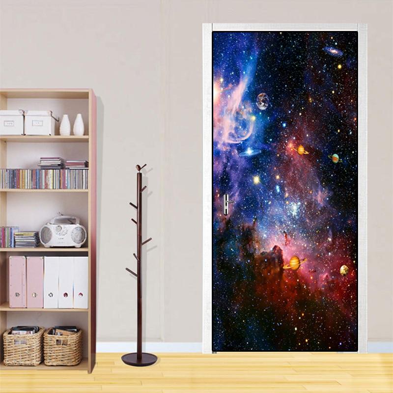 Купить наклейки на двери звездные водонепроницаемые 3d обои для гостиной