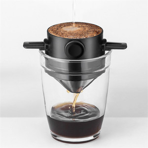 Coffee Drip Filter Cup Portable Reusable Paperless Pour Over Coffee Dripper Foldable Clever Coffee Filter V60 Style(China)