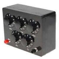 Caixa variável 0 9999.9 ohm 165x125x60mm da resistência do resistor da década do ferro da caixa da resistência preta para o ensino físico|Medidores de resistência| |  -