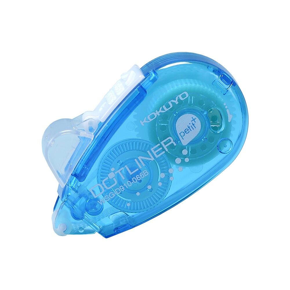 2 pcs/paquet Mini rouleau adhésif Double face, ruban adhésif Dot Liner Petit jetable, bleu, 6m