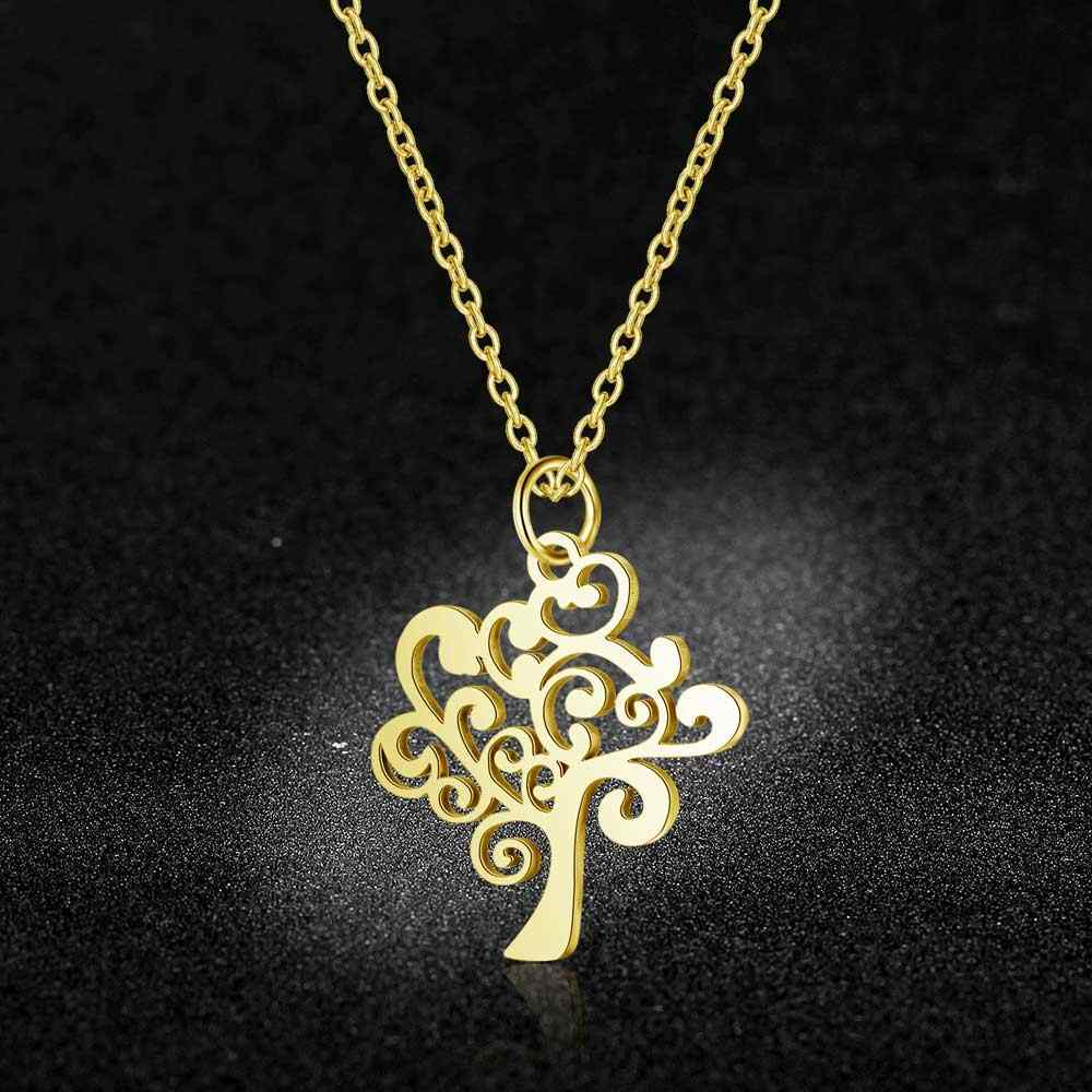 AAAAA Quality 100% Stainless Steel Life Of Tree Charm Necklace for Women Special Gift Never Tarnish Jewelry Necklace High Polish