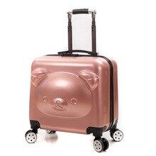 Beer Kid 'S Reizen Trolley Bagage Koffer Trolley Tas Op Wielen Reistas Kinderen Rollende Koffer Voor Jongen Meisjes Cartoon doos