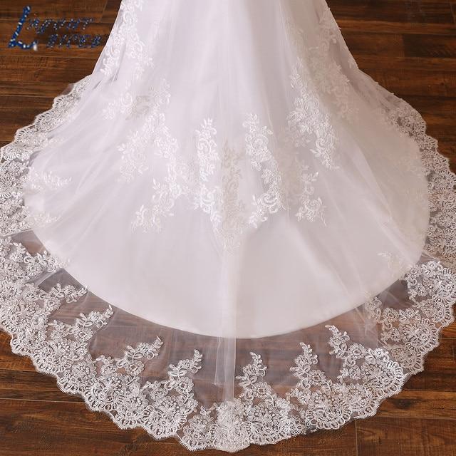 LAYOUT NICEB Mermaid Wedding Dress 2021 Illusion Back Vestido De Noiva Long Sleeve Beads O Neck Lace Appliques Bride Bridal Gown 6