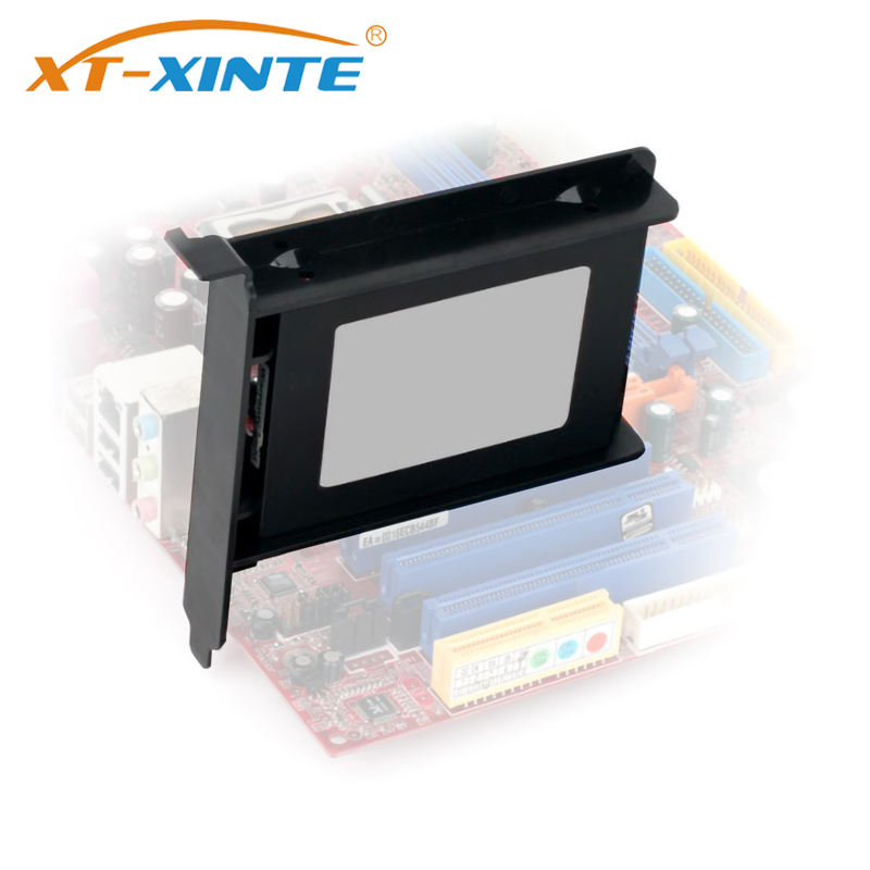 XT-XINTE Plastic PCI Slot 2.5 Inch HDD/SSD Mounting Bracket Hard Drive Adapter Chassis Rear Bracket Hard Drive Holder