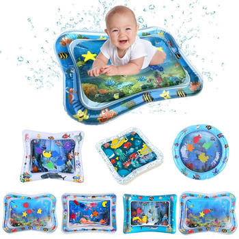 Baby Water Play Mat Baby Inflatable Patted Pad Early Education Toys Play ice mat Toddler Summer Activity Play Safety mat image