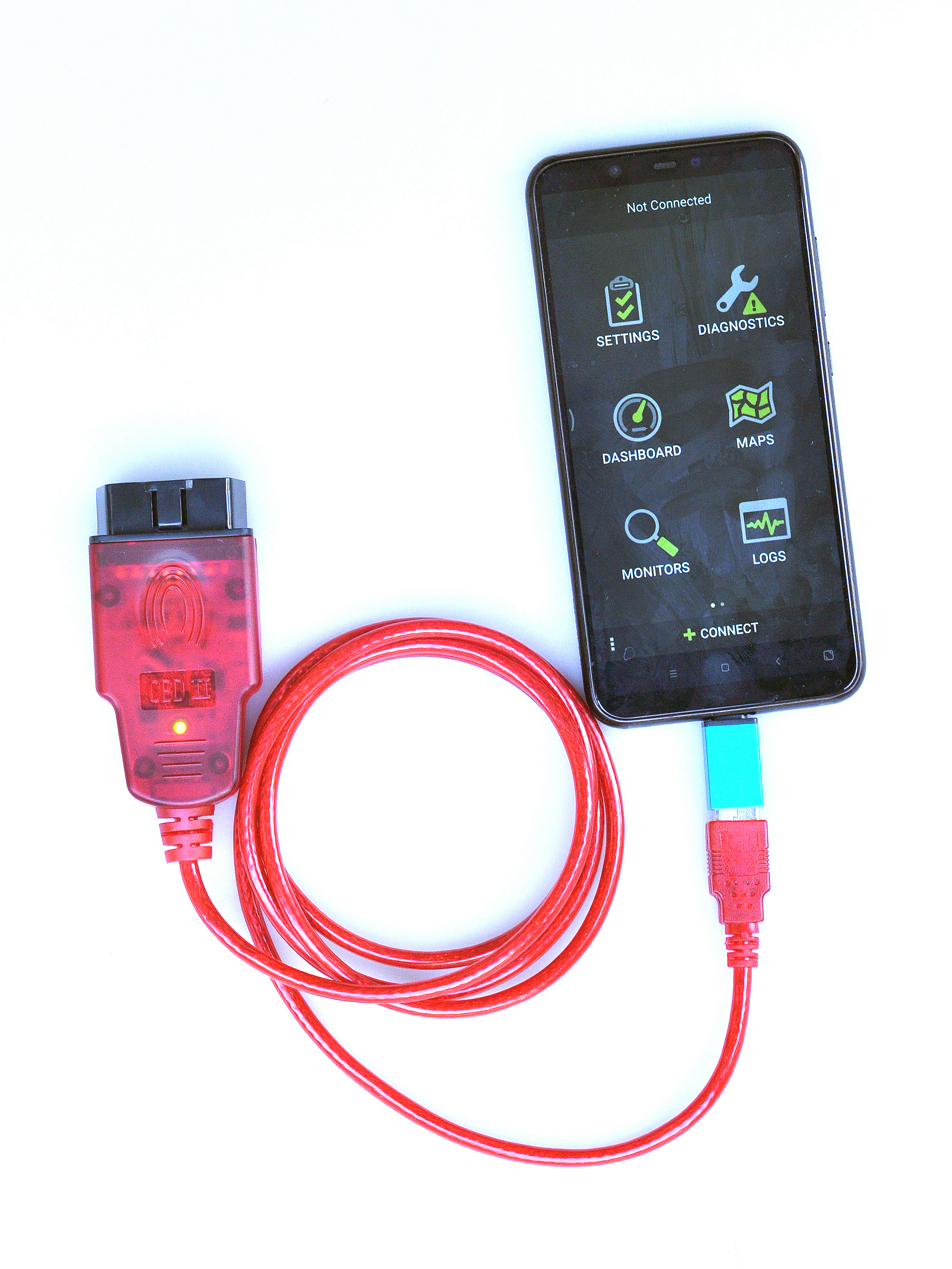 OBDLink SX USB 425801 Diagnostic Interface & OBDWiz Software For Windows Android Laptop Smart Phone