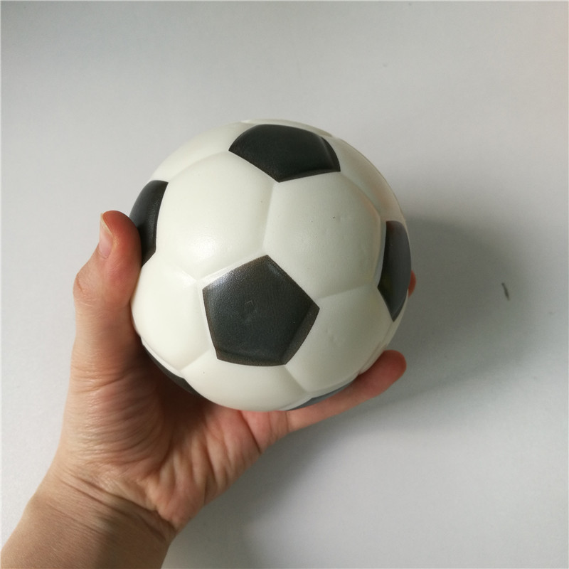 Toys Football Stress Ball Soft Foam Rubber Balls Squeeze Squishy Stress Relif Toys For Kids Children 6.3cm/10cm