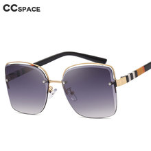 Sunglasses Men Shades Frameless Luxury Women Fashion UV400 49131 Vintage Stripe