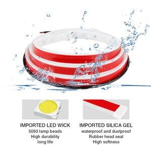 Image 5 - Okeen Cửa Xe Ô Tô Hoan Nghênh Bạn Đã Dải Sáng Kiểu Dáng Xe Tự Động Nhấp Nháy Nhấp Nháy Môi Trường Xung Quanh Bầu Không Khí Đèn An Toàn LED Mở Đèn Cảnh Báo