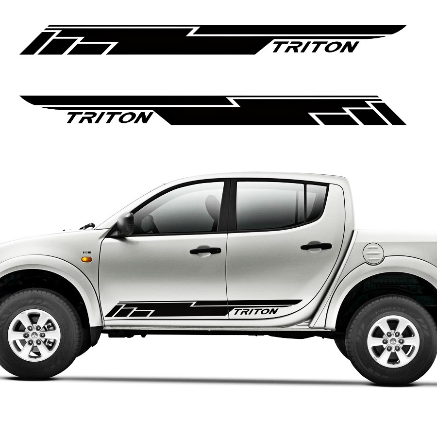 car stickers and decals  2pc cool racing door side for mitsubishi l200 triton