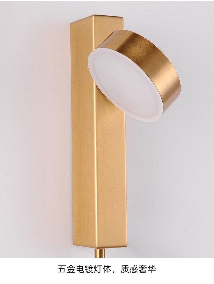 Pós-moderno ferro ouro preto conduziu a lâmpada