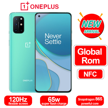 Original OnePlus 8T 8 T 5G Mobile Phone Snapdragon865 OctaCore 6.55'' 120Hz AMOLED Screen 48MP 4500mAh NFC Android10 One Plus 8T