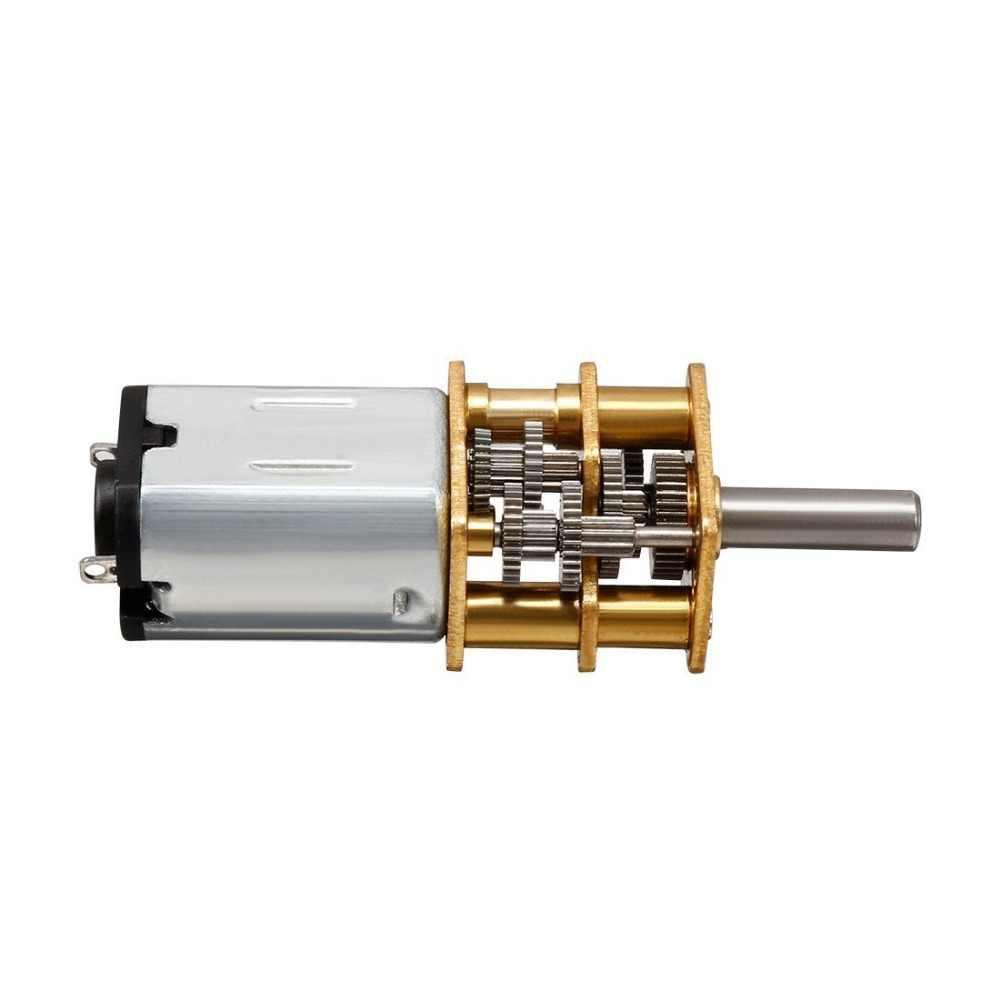 DC 3V 6V 12V N20 мини микро-металлическая передача мотор с зубчатым колесом высокого качества небольшой мотор-редуктор постоянного тока 15-1000RPM вторая половина цена