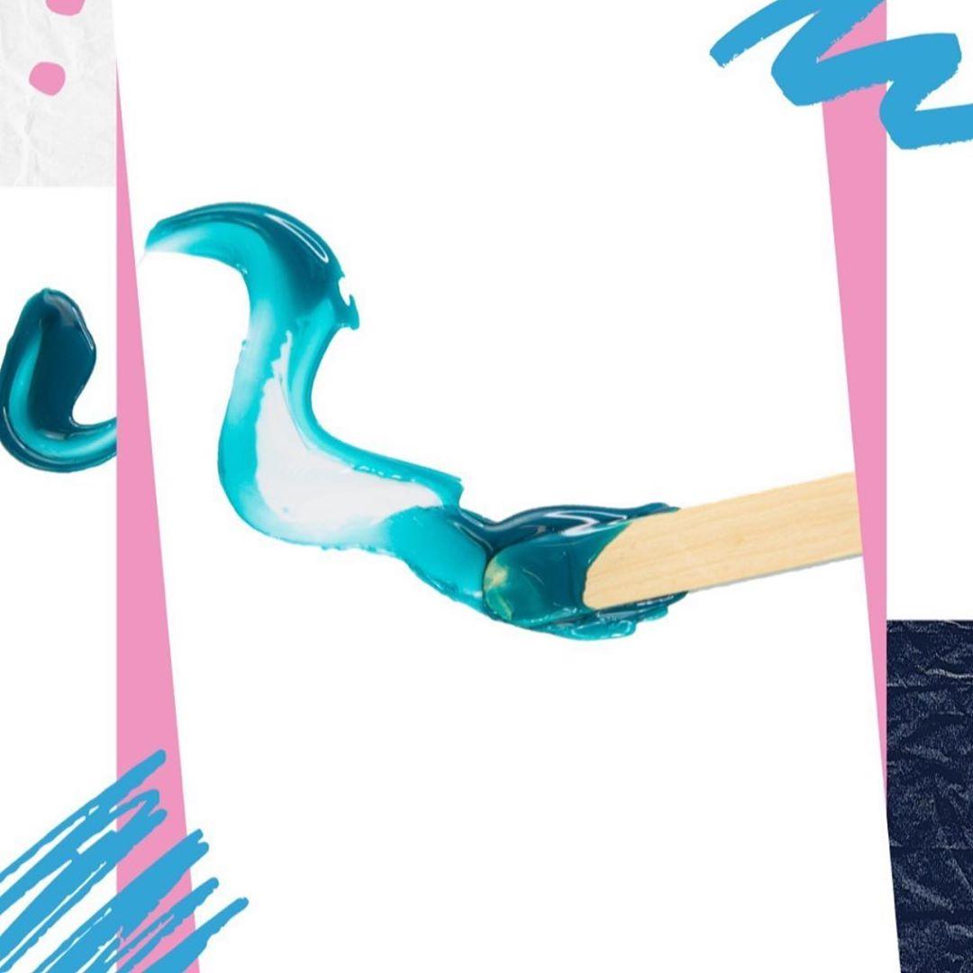 de depilação spa vários grânulos de cera