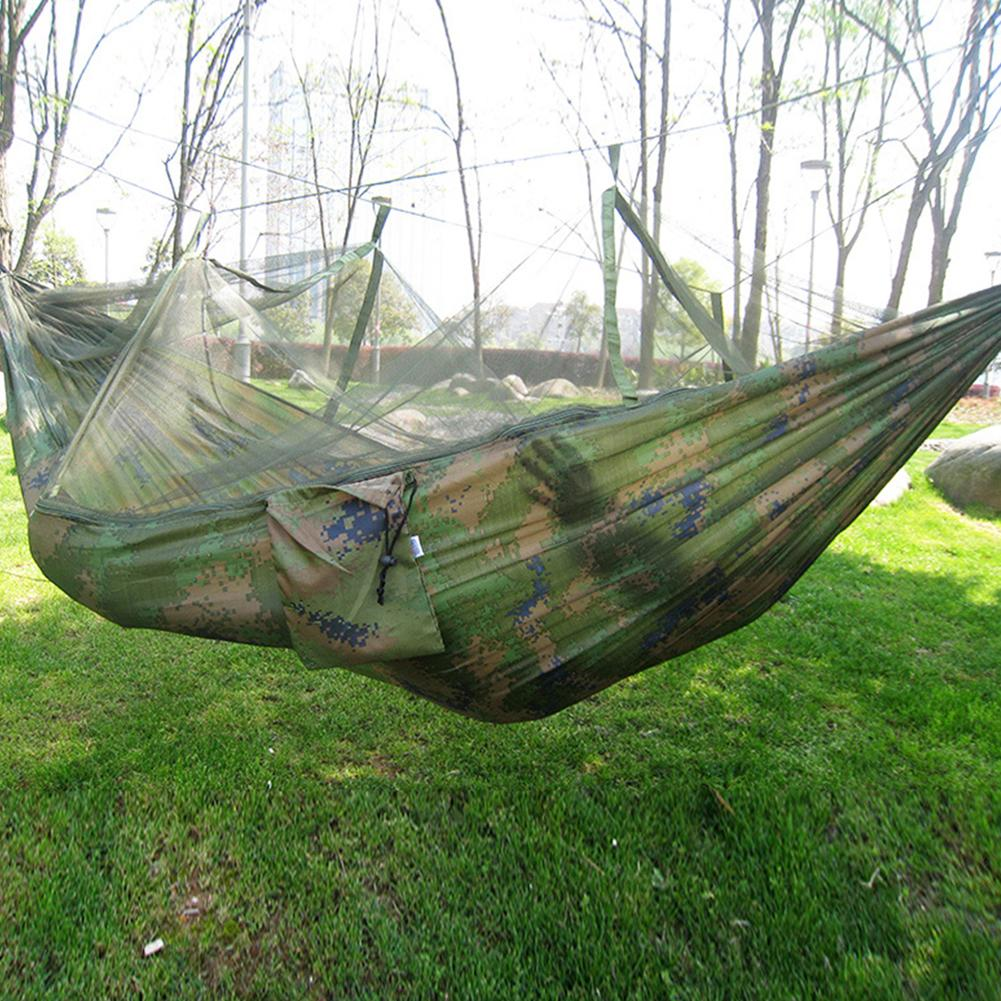 New Durable Portable Travel Camping Jungle Outdoor Swing Hammock Mosquito Net Hanging Bed