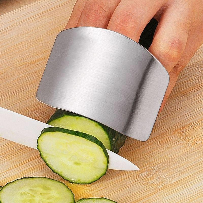 Кухонный инструмент для защиты пальцев из нержавеющей стали