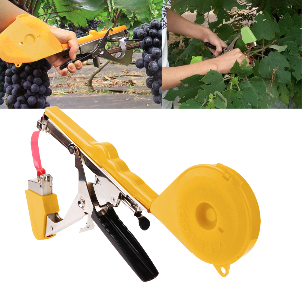 1 Set Plant Branch Hand Tying Staples +Tapener +TapesBinding Machine Flower Vegetable Garden Tools Russia Shipping