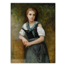 Citon William Adolphe Bouguereau《A Study For The Secret》Canvas Oil Painting Artwork Poster Picture Wall Decor Home Decoration
